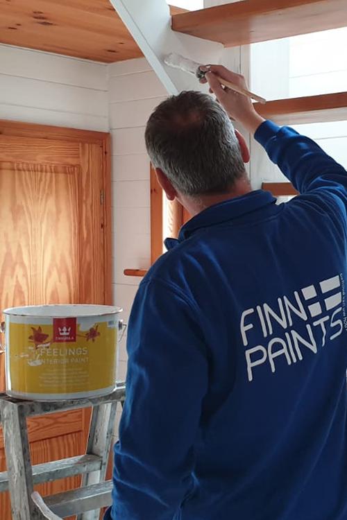 Finnpaints.nl | Buitenverf | Binnenverf | Project | Schilderen met Multistop, Feelings Interior Paint, Vinha en Unica Akva | Dinteloord | Tikkurila