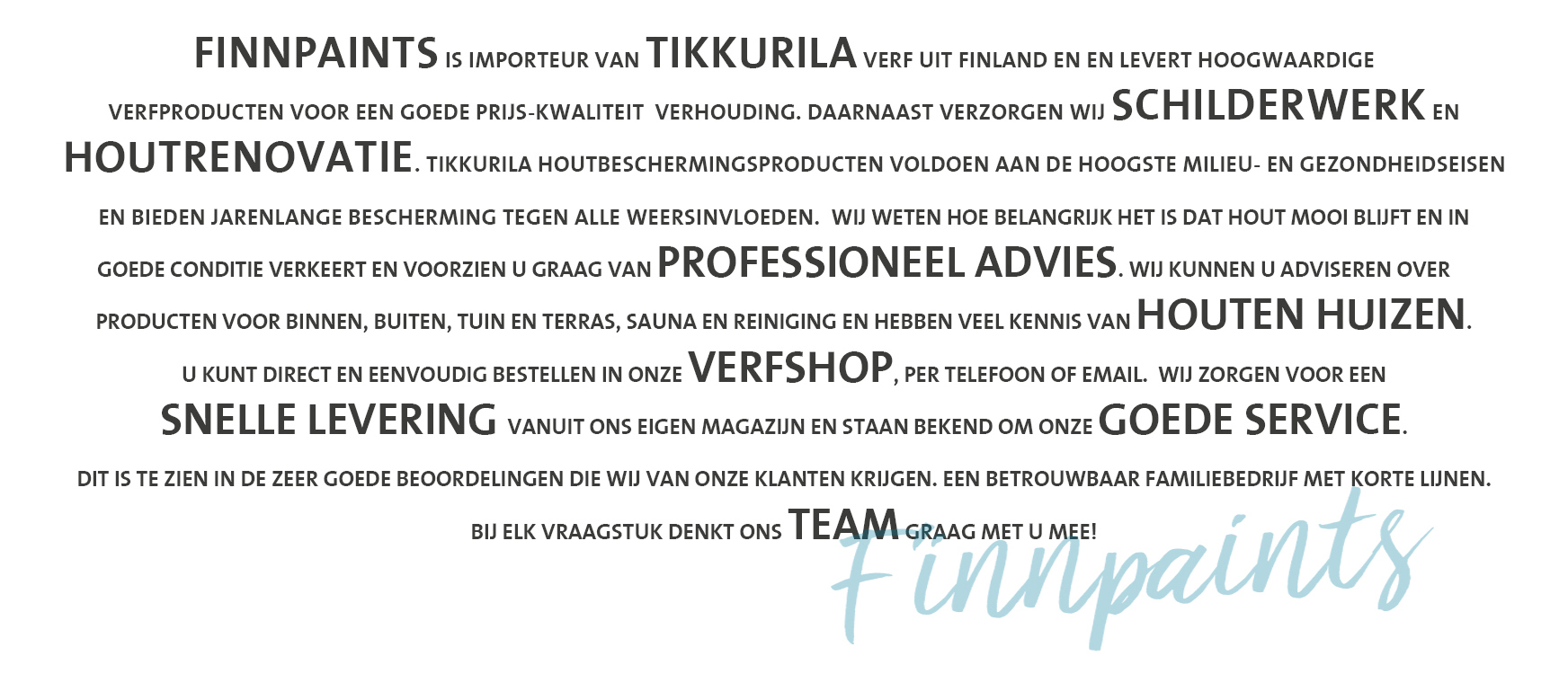 Finnpaints.nl | Home | Woordwolk | Tikkurila